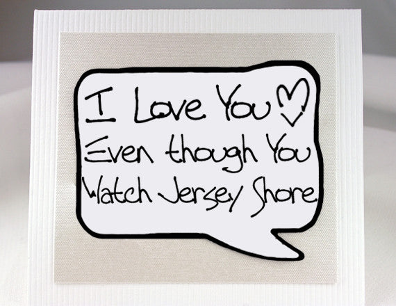 love you card for jersey shore fans with magnet quote
