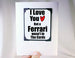 funny gift for guys ferrari card