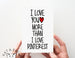 Love/ More Than Pinterest Card.  PGC033