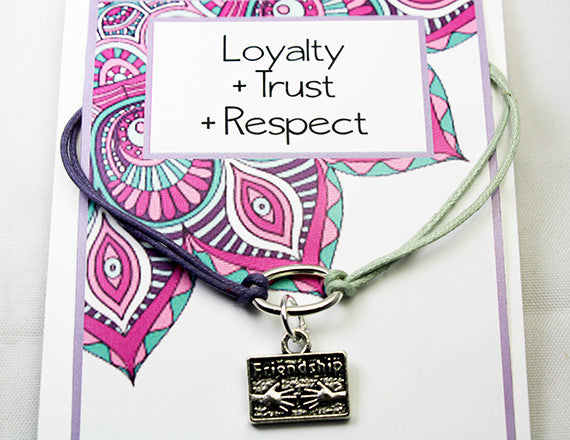 friendship charm bracelet for trust and loyalty