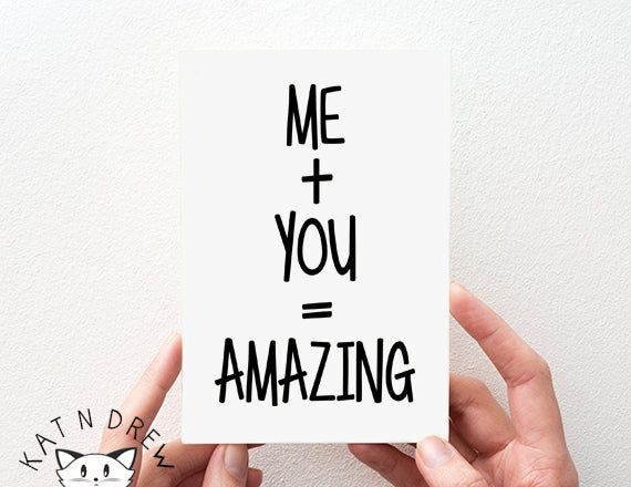 Me + You Card.  PGC020