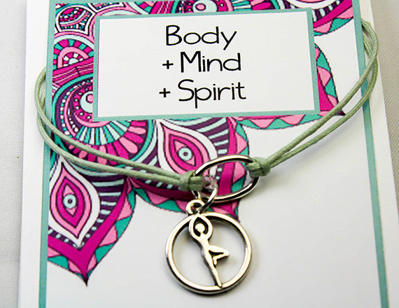 yoga charm bracelet for mind and body
