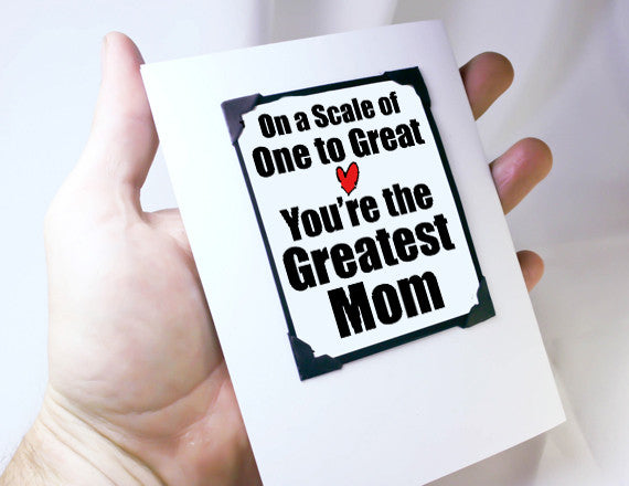 happy mothers day card and gift for mom