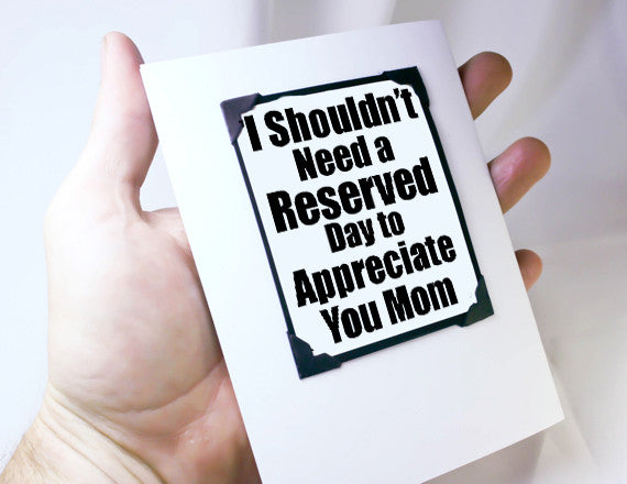 card for mothers day with magnet gift as gift card for mom