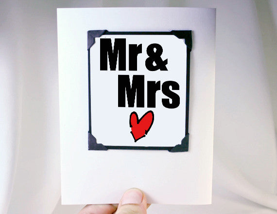 mr and mrs wedding greeting card