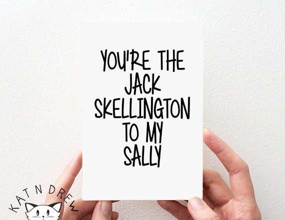 Jack Skellington To My Sally Card.  PGC107