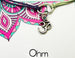 ohm charm bracelet for yoga lovers