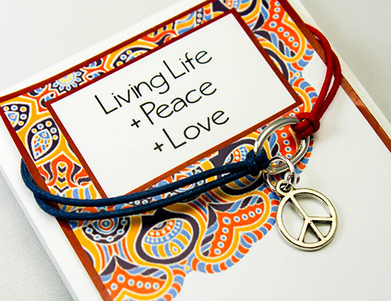 loving life charm bracelet for inner peace