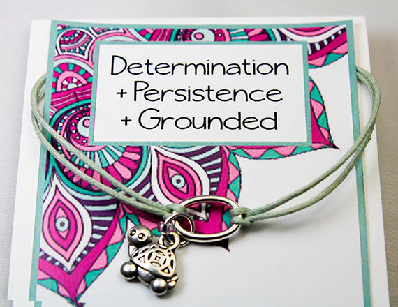 Persistence and Determination Turtle Charm Bracelet