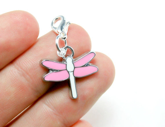 Pink Dragonfly Charm. SCC062