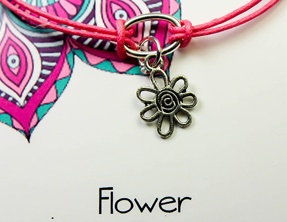 happiness and new beginnings flower charm