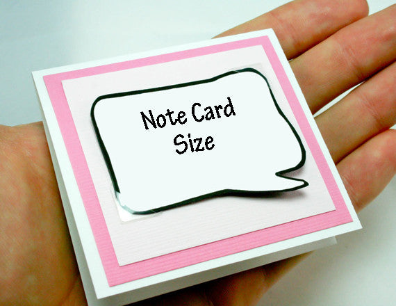 pink note card for valentines