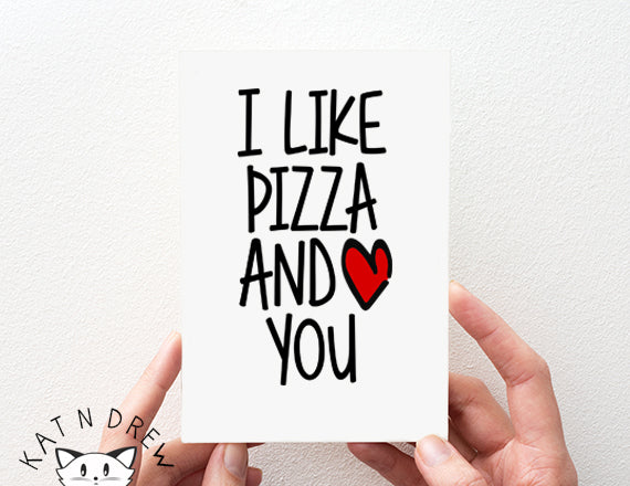 I like Pizza And You Card. PGC104