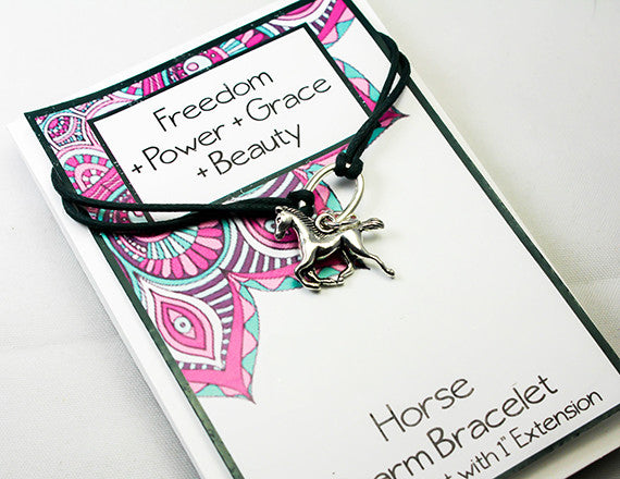 horse charm bracelet for power and grace