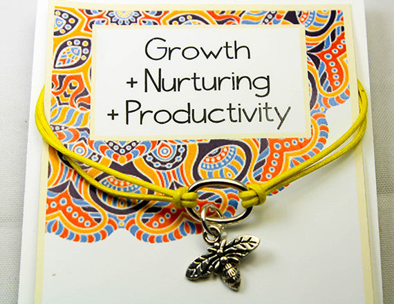 charm bracelet for nurturing and productivity