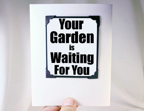 garden lover greeting card retirement quote