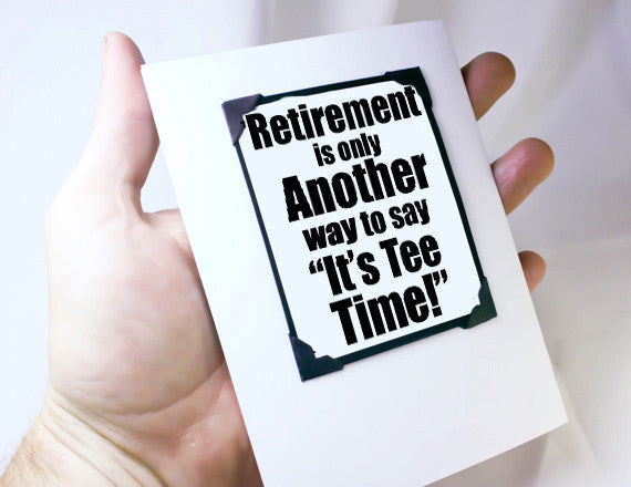 retirement card for golf lover with magnet gift
