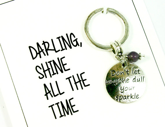 shine bright keychain card