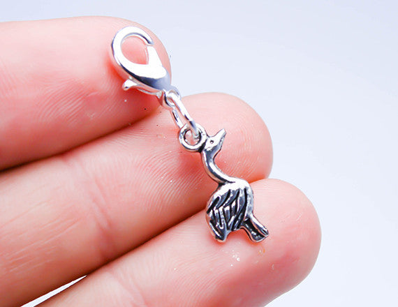 stork charm for new babies