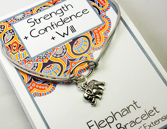 elephant charm bracelet for strength