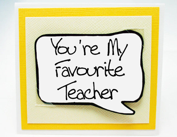 teacher thank you card. teacher appreciation card.