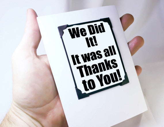 many thank card and magnet keepsake