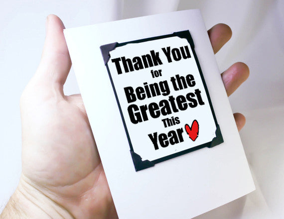 thanks you greeting card and magnet