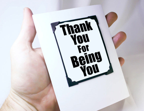 many thanks greeting card and magnet