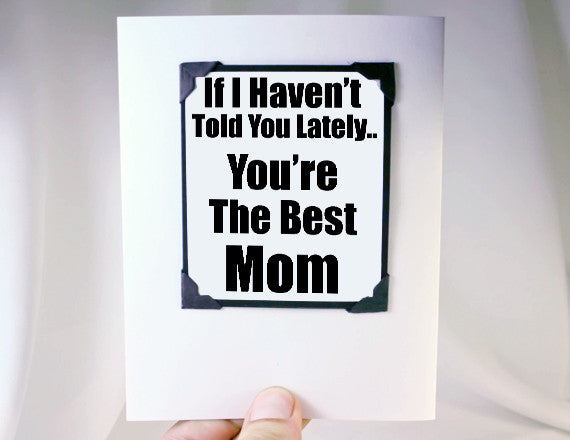 mothers day card and magnet gift for mom