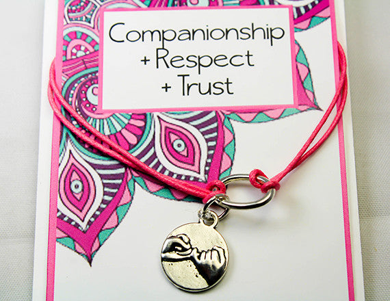 friend charm bracelet for trust and respect