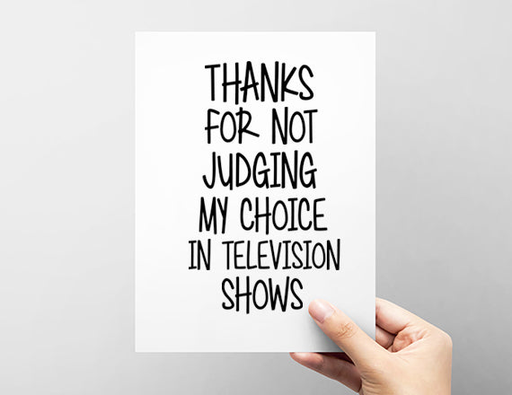 girlfriend card. tv show choice. netflix card