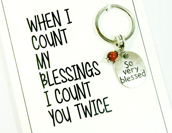 count your blessing card