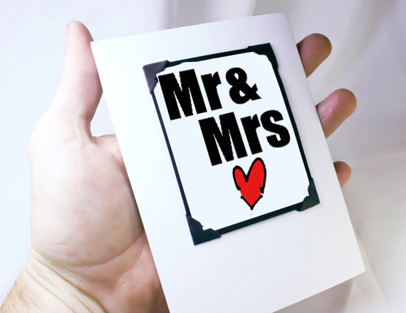 gift idea for couples wedding greeting card