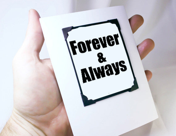 forever and always love you magnet quote card