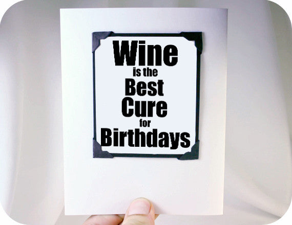 wine lover card funny birthday card