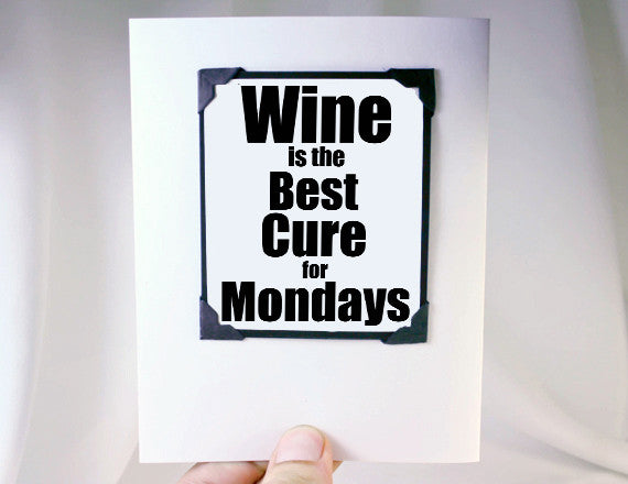 wine lover funny quote greeting card