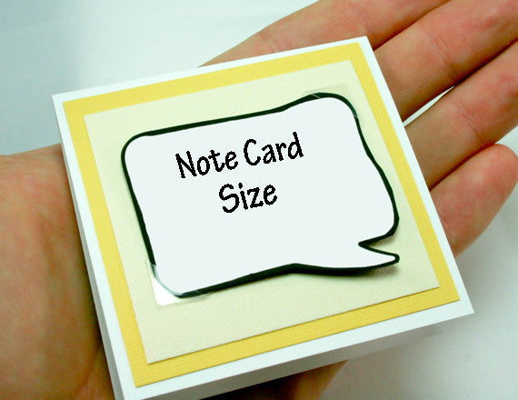 yellow note card