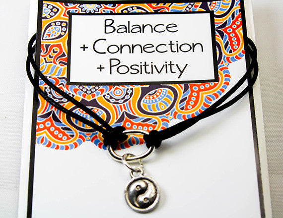 positivity and connection charm bracelet