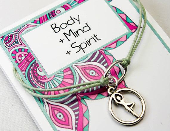 yoga charm bracelet for a clean body and mind
