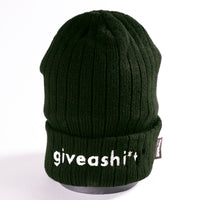 Giveashi*t winter hat - GREEN!!!