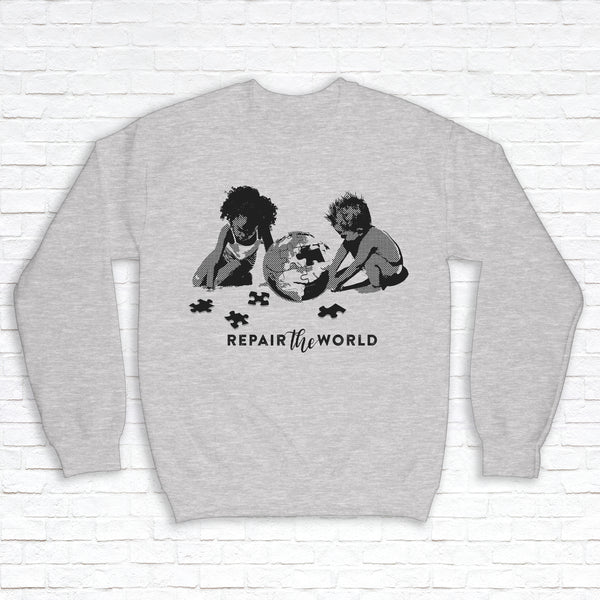 From the Hands of Babes by Julio Desir - Crewneck Sweatshirt