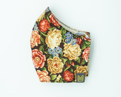 Adult Cotton Face Mask - Autumn Flowers