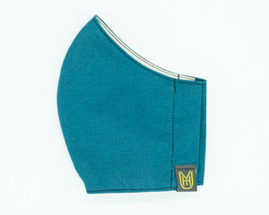 Adult Cotton Face Mask - Teal Japanese Cotton