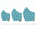 Adult Cotton Face Mask - S.E. Turquoise Lace & Pearls