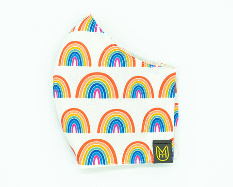 Adult Cotton Face Mask - Cheery Rainbows