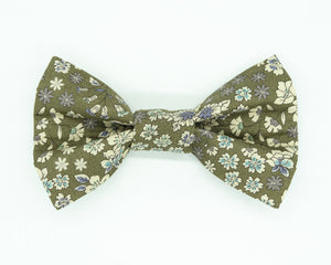 Dapper Dog Bow Tie - Floral Moss