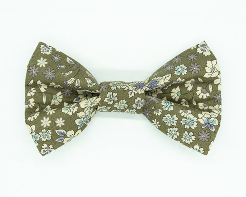 Green dog bow tie