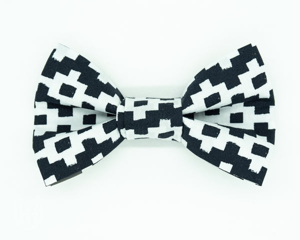 Dapper Dog Bow Tie - B&W Pathways