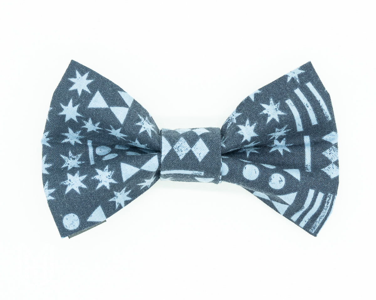 Dapper Dog Bow Tie - Midnight Stars