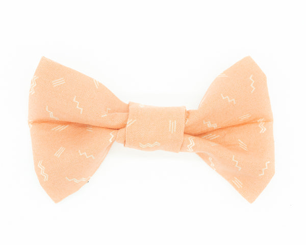Dapper Dog Bow Tie - Pink Squiggle